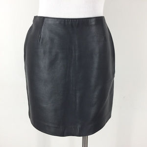 GAP S 4 Vintage Black Mini Skirt Genuine Leather